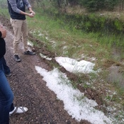 Hail in Otter Rapids On