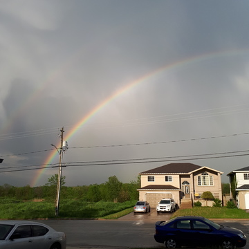 Rainbow over Owen Sound