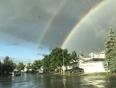 Double rainbow  - AB-791, Calgary, AB T2P 2G7,