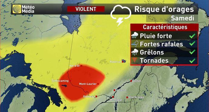 Chaleur et veille d'orages violents pour le Grand Montréal