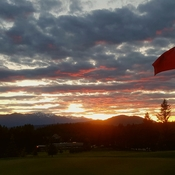 Sunset from #1 Green