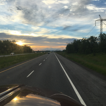 Sunset near Sherbrooke , Que. Monday June 19, 2017