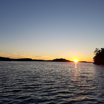Sunset at Lake Joseph