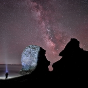 Fraserville Sea Stacks and The Milky Way