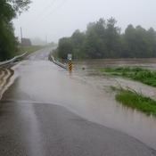 Lakeshore Road flooded in west end of Port Hope.
