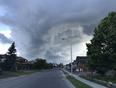 Storm clouds moving through Sudbury. - Sudbury, ON, CA