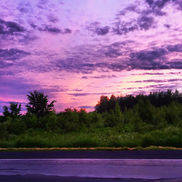 Purple sky after a day of rain