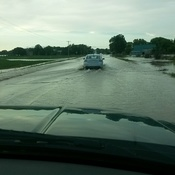 Flooding south of Hanover on Grey Rd 10