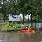 A great day to kayak on your front lawn