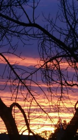a beautiful sunset after the rain.