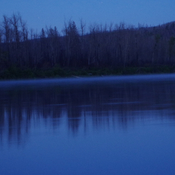 Mist on the Clearwater river,at 2am.