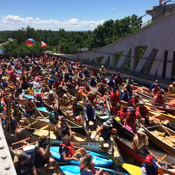 Lock'n Paddle at the Peterborough Lift Lock in celebration of Canada 150