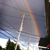 a beautiful rainbow after a heavy downpoor
