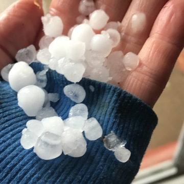 Sunny weather turns to hail in June