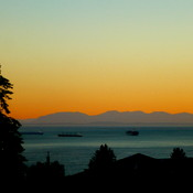 WEST VANCOUVER SUNSET - 9:06 PM - June 23, 2017