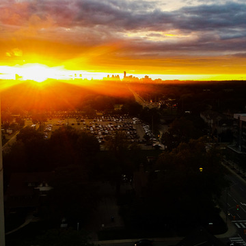 sunset over mississauga