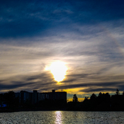 sundog at sunset