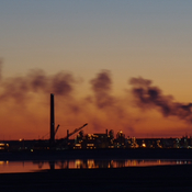 Silhouette of Syncrude.