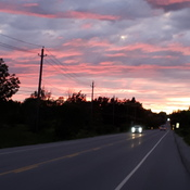 sunset in lowville, ontario