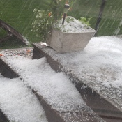 Lambeth, Ont. during hail storm