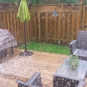 Hail and thunderstorms in Grimsby this afternoon