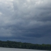 Sunday afternoon storm over little lake midland