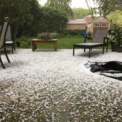 Hail in Richmond Hill