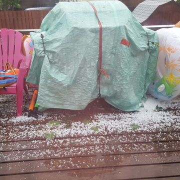 hail in the summer??