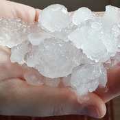 Hail collected after storm