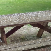 Hail in Brantford this morning