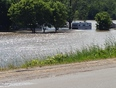 Trailers flooded out on Grand River in Calidonia - Brant, ON