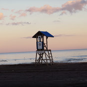 Beautiful sunset on the beach Cobourg
