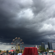 Stormy clouds at the fair