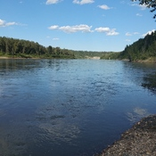 Beautiful view of the north Saskatchewan River