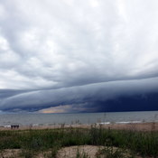 Storm clouds approaching Sauble Beach