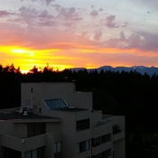 Sunset from Central Park area in Burnaby BC