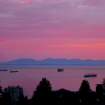WEST VANCOUVER SUNSET - June 25,2017- 9:24 PM