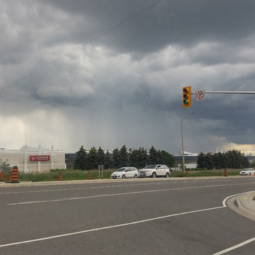 Heavy rainfall in Mississauga