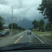 Scary sky in Barrie