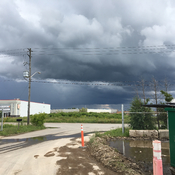 Dark clouds over south Guelph
