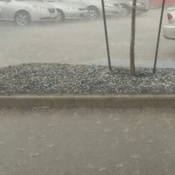 look how fast its hailing wow