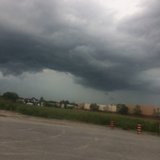 Storm clouds in Bowmanville