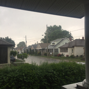 Heavy rain and hail in St. Catharines