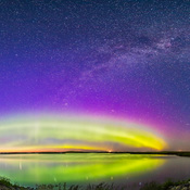 Northern Lights over a Prairie Lake