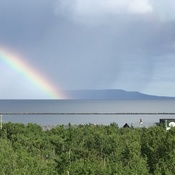 Rainbow over sleeping giant