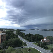 Storm approaching Kingston