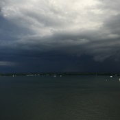 Scary clouds on Toronto Harbour