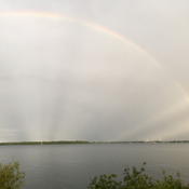 Rainbow over Wolfe Island