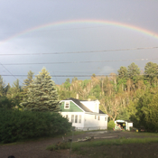 Rainbow after the storm!!