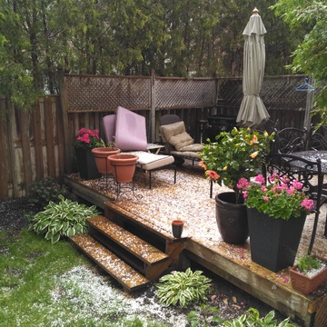 Hail storm on Sunday.